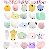Party Favors Easter Egg Fillers, 20 Pcs Mochi Squishy Toys Mini Squishies Kawaii Cat Panda Animals Stress Reliever Anxiety Toys for Kids Children Adults