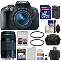 Canon EOS Rebel T5i Digital SLR Camera & EF-S 18-55mm IS STM & 75-300mm III Lens with 32GB Card + Case + Battery & Charger + Filters + Kit