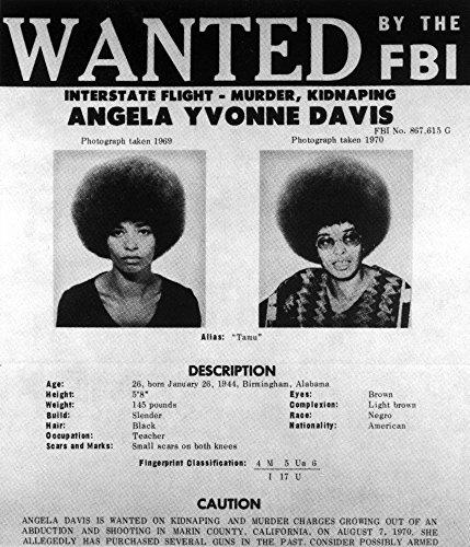 - Wanted poster of Angela Davis Photo Print (8 x 10)
