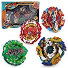 ROKK NOW Bey Battle Burst God Blades Gyro Evolution Combination 4D Series with Stadium Battle Arena, Launcher Stater Grip, Includes 4 Battling Fusion Beyblades