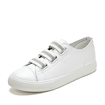 Fashion Breathable Flat Shoes Women Stripe Casual Sports Skateboarding Shoes ( Color : White  Size : 39 )