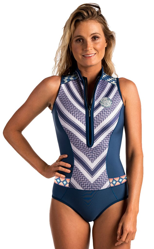 Rip Curl G Bomb Sleeve Less Bikini Spring Suit, Navy, Size 4