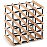 Artiss Wine Rack 20 Bottles Free Standing Wooden Wine Storage Display Shelf