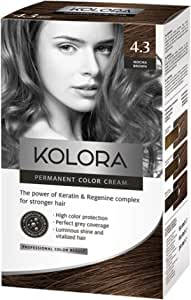 AROMA Tinte para el cabello 4.3 Kolora marrón moca 60 ml1 ...