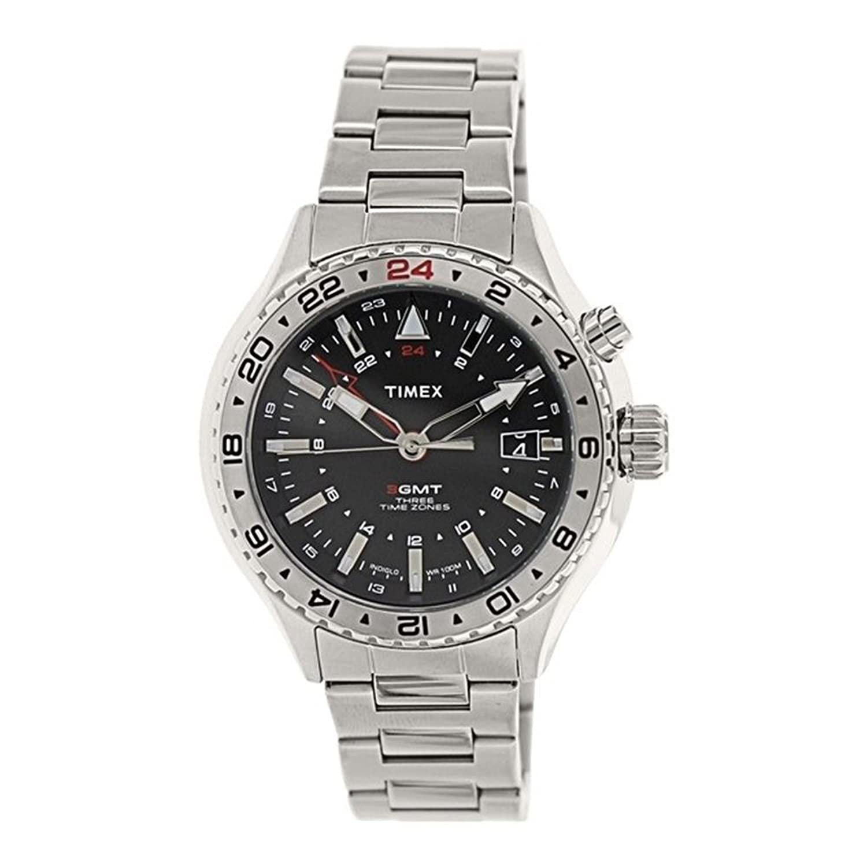 Timex Herren-Armbanduhr Analog Quarz Edelstahl T2P424