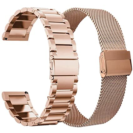 VIGOSS Compatible con Galaxy Watch Active 40 mm Oro Rosa Negro ...