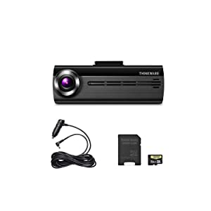 THINKWARE FA200 Dash Cam Bundle with Cigarette Power Cable, 16GB Micro SD Card Included, Built-in WiFi, Time Lapse