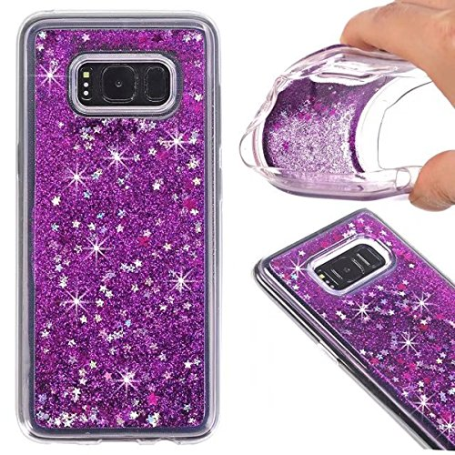 Price comparison product image S8 Plus Case, Galaxy S8 Plus Glitter Case, DAMONDY 3D Moving Stars Bling Liquid Glitter Floating Dynamic Flowing Ultra Clear Soft TPU Case for Samsung Galaxy S8+ Plus 2017 -purple