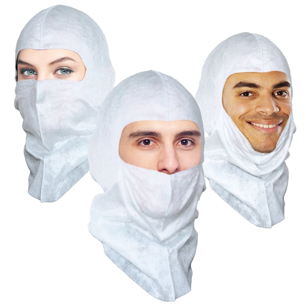 Soft-stretch Spray Foam Painter's Hood Spary Sock, Superior Protection to Disposable Hood and Lower Cost. $1.16 Ea, 50 Per Pack by VitaFlex Soft-stretch Hood (Image #3)