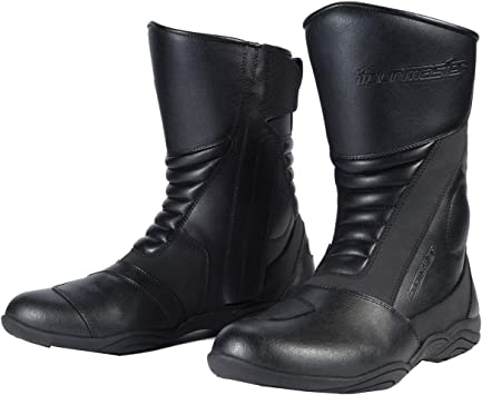 Black, Size 10 TourMaster Solution 2.0 Mens Cold-Weather WP Road Boots