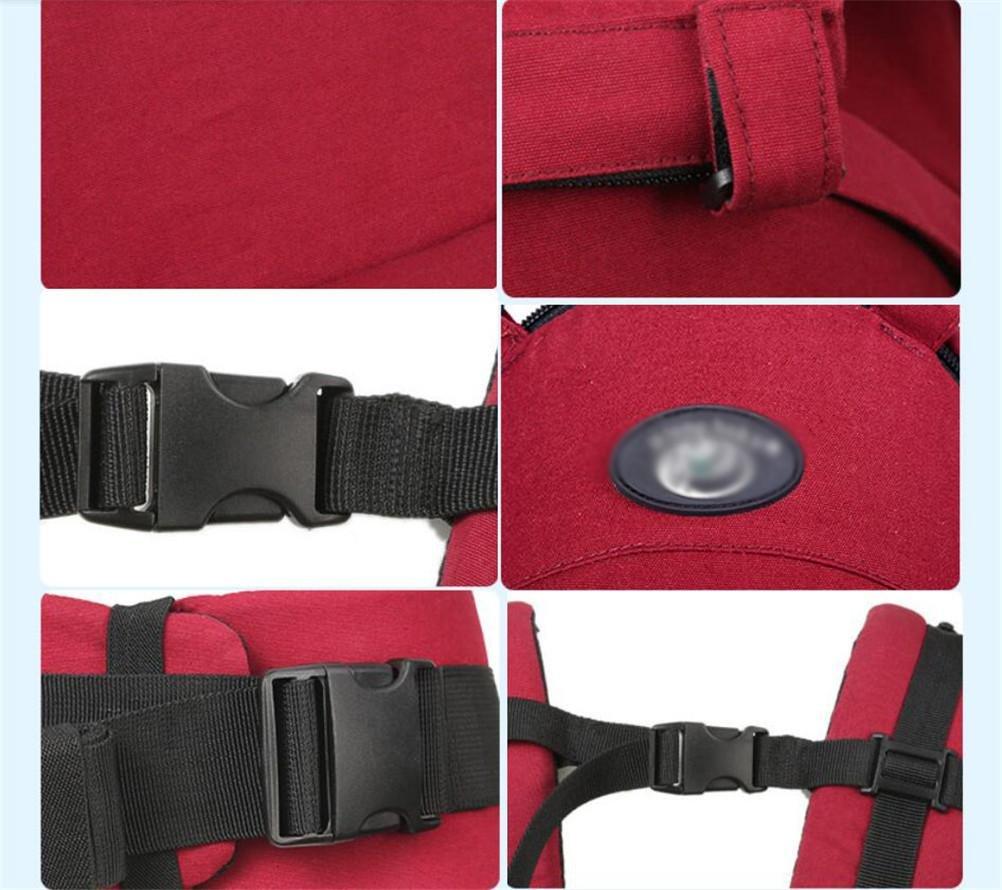 GMM Porte-bébé Porte-sièges en coton respirant à l été Design ergonomique  Variété Portez des façons avec un siège détachable Nouveau-né réglable Porte -sac à ... b4d9c19e5fd