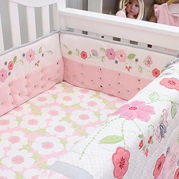 Nurture Imagination Airflow Crib Bumper 4 Piece Set Garden District