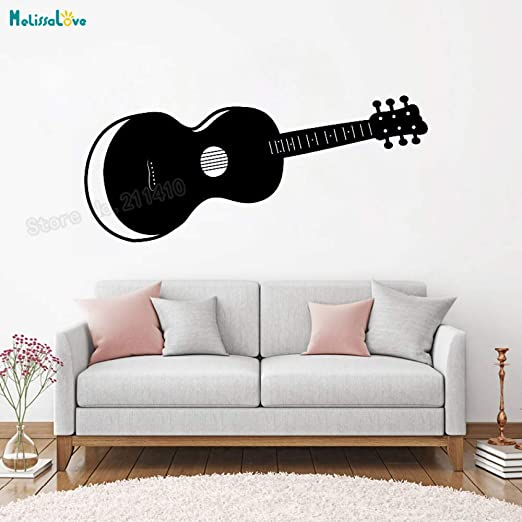 jiushixw Instrumento Vinilo Adhesivo de Pared Guitarra acústica ...