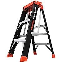 MicroBurst Fold-Flat Escalera de Fibra de Vidrio Totalmente Plegable con Capacidad de 170 kg., de 0.91 cm de alto