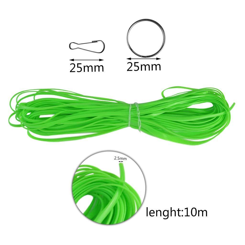 Yolyoo 525 Feet Gimp Bracelet Scoubidou String Plastic Lacing Cord for Bracelet DIY Craft Jewelry Making with 40 Pieces Snap Clip Hook 16 Colors