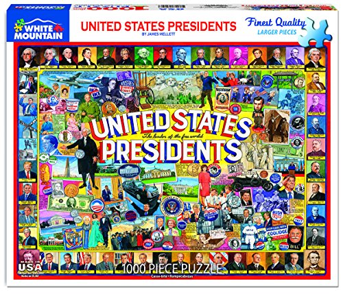 White Mountain Puzzles 1263 US Presidents Collage, Multicolor