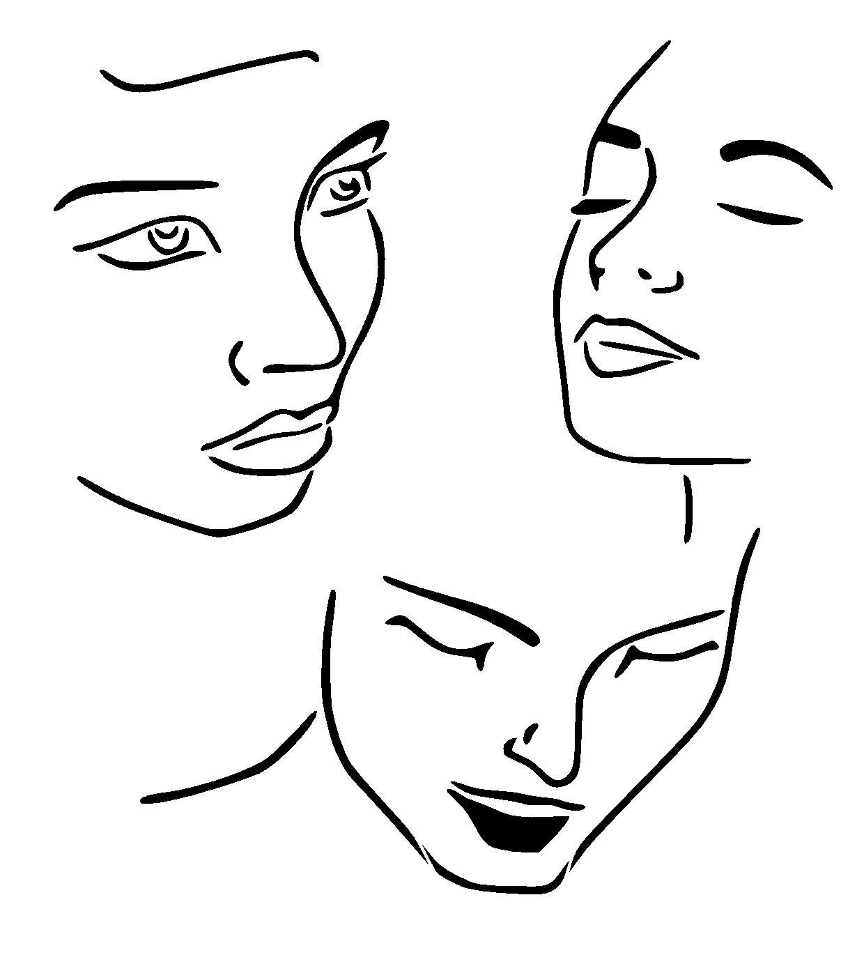 faces drawing aid stencil 2. Choose size and thickness.