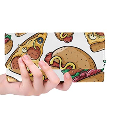Única Personalizada Linda Pizza Rebanada Hamburguesa Hot Dog ...