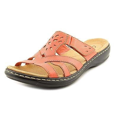 d2d9c35cf2ec CLARKS Women s Leisa Plum Slides Coral Sandal 26069247 (Womens ...