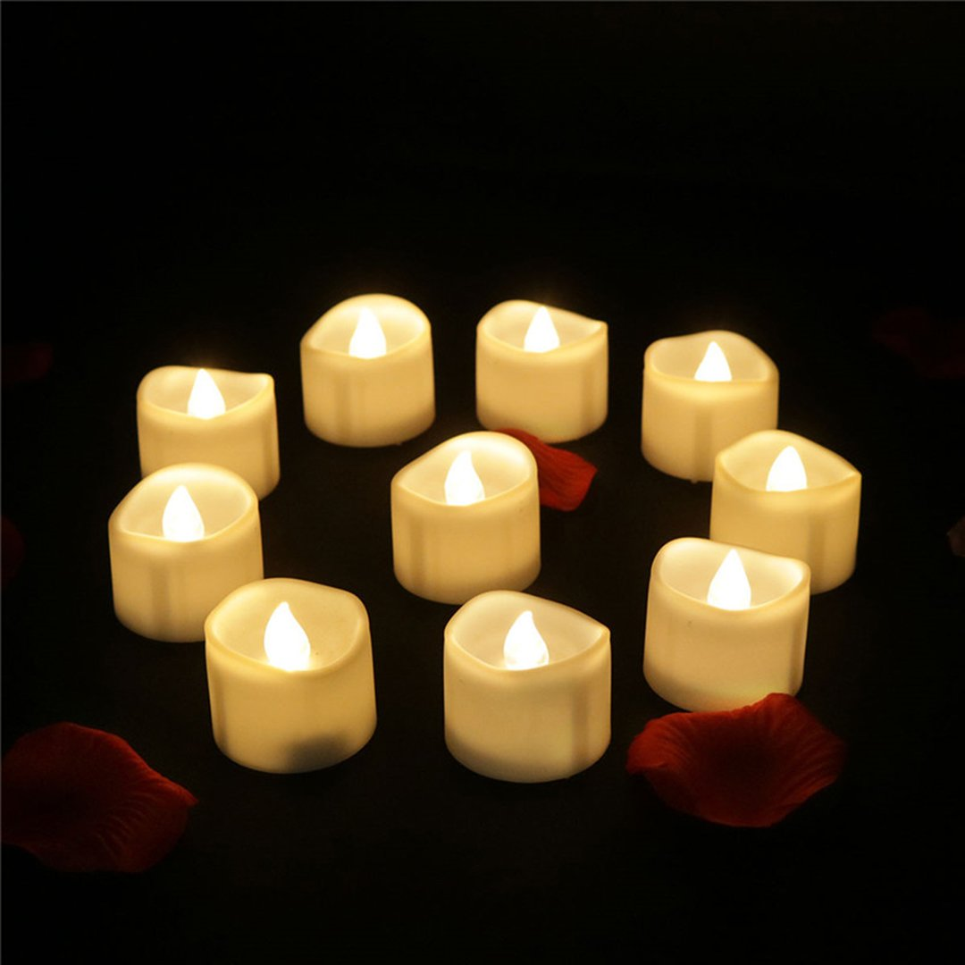 12PCS Flameless Led Tea Lights with Timer Warm White Flickering Hurrican Candle Lights Battery Operated for Halloween Lantern Home Window Decoration Craft Project