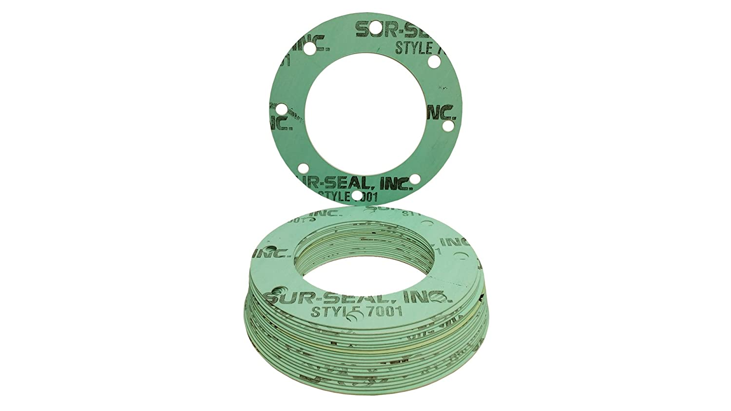 1//8 Thick Aramid Fibers//Nitrile Rubber 2 Pipe Size 2 Pipe Size 1//8 Thick 2.375 ID Supplied by Sur-Seal Inc Pack of 20 2.375 ID of NJ Full Face Gasket Sterling Seal CFF7001.200.125.150X20 7001 Compressed Non-Asbestos Pressure Class 150#