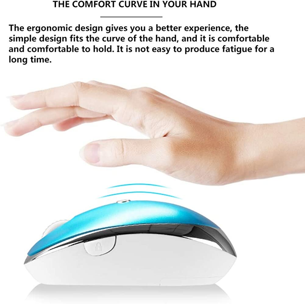 Caige Cordless Mouse Newest Smart AI Voice Mouse 2.4 G Rechargeable Support Voice Typing Blue 1200Dpi 5 Buttons