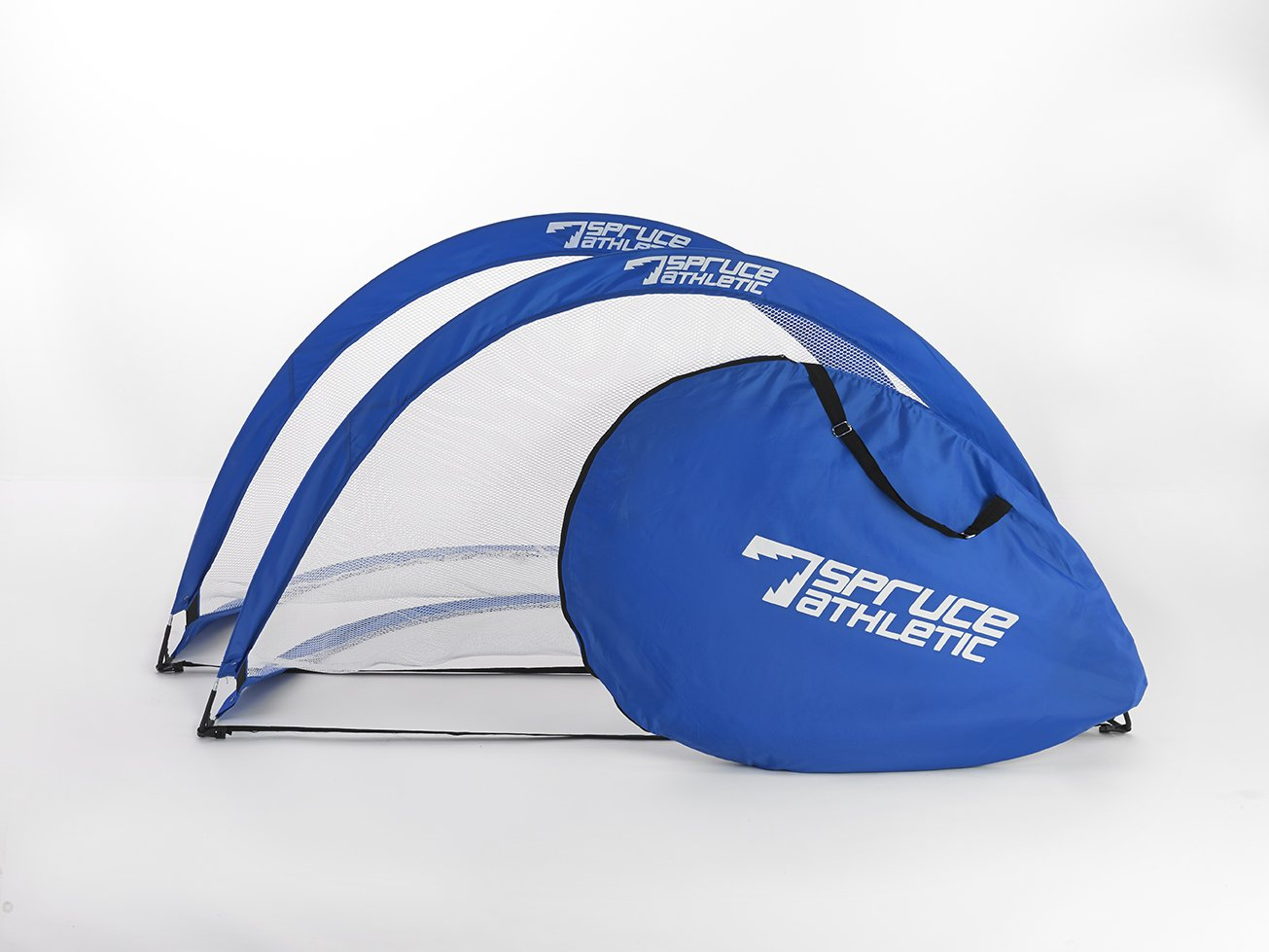 1 Pair of Competition Quality 6ft Pop-up Soccer Goals with Free Carry Bag- Durable, High Quality, Collapsible, Easy to Pack and Store (ROYAL BLUE)