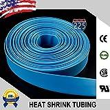 50 FT 1'' 25mm Polyolefin Blue Heat Shrink Tubing 2:1 Ratio
