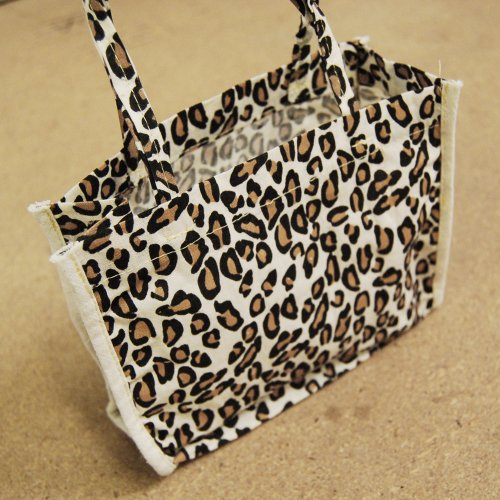 """Cotton Tote Favor Bags Leopard Cheetah Animal Print Party Gift Bags (6-pack) (7"""" x 6"""" x 2.75"""")"""