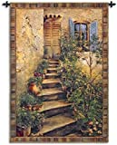 Fine Art Tapestries ''Tuscan Villa II'' Wall Tapestry, Large