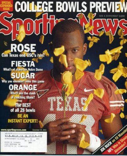 (Sporting News December 23, 2005 University of Texas vs USC in Rose Bowl, College Bowls Preview, Eric Williams/Wake Forest)