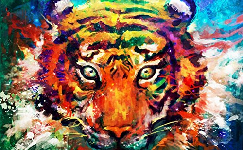 TINMI ARTS 5D DIY Diamond Painting Full Drill Wide Animal Kits for Adults Cross Stitch Rhinestone Embroidery Home Wall Decoration (Watercolor Tiger) by TINMI ARTS