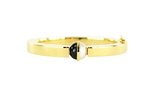 b6f2dded43 Chloe Darcey Gold Cuff Brass Swarovski Pearl Bracelet: Amazon.ca ...