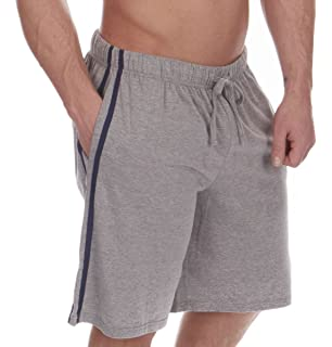 0519eb8a0b72d KIKFIT 2 Pack Mens Jersey Shorts Top Bottoms Pyjama Side Stripe ...