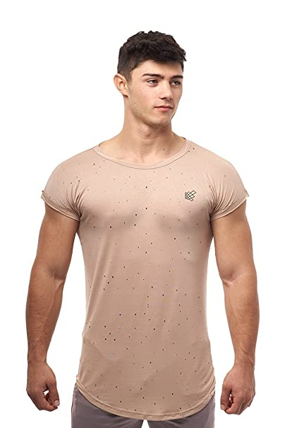 0ee0d11a12 Amazon.com  Jed North Mens Athletic Gym Workout Casual Capped Sleeve ...