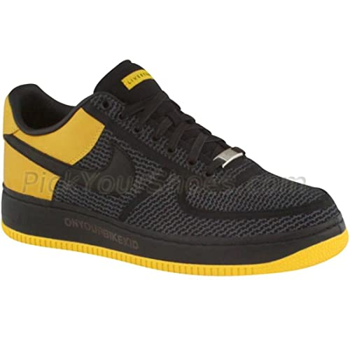 official photos 9cc7b dbd33 NIKE AIR FORCE 1 LOW SUPREME Style 318985 MENS VARSITY MAIZE BLACK-ANTHRACITE  10.5 D(M) US  Amazon.in  Shoes   Handbags