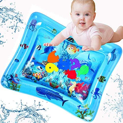 LUKAT Tummy Time Baby Water Mat, Inflatable Play Mat Infant Toy for 3 6 9 to 12 Months Baby Boy/ Girl, Baby Toys & Toddlers Fun Activity Play Center, Babys Birthday Gifts
