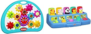 Playskool Explore 'N Grow Busy Gears (Amazon Exclusive) & Poppin' Pals Pop-up Activity Toy for Babies and Toddlers Ages 9 Months and Up (Amazon Exclusive)