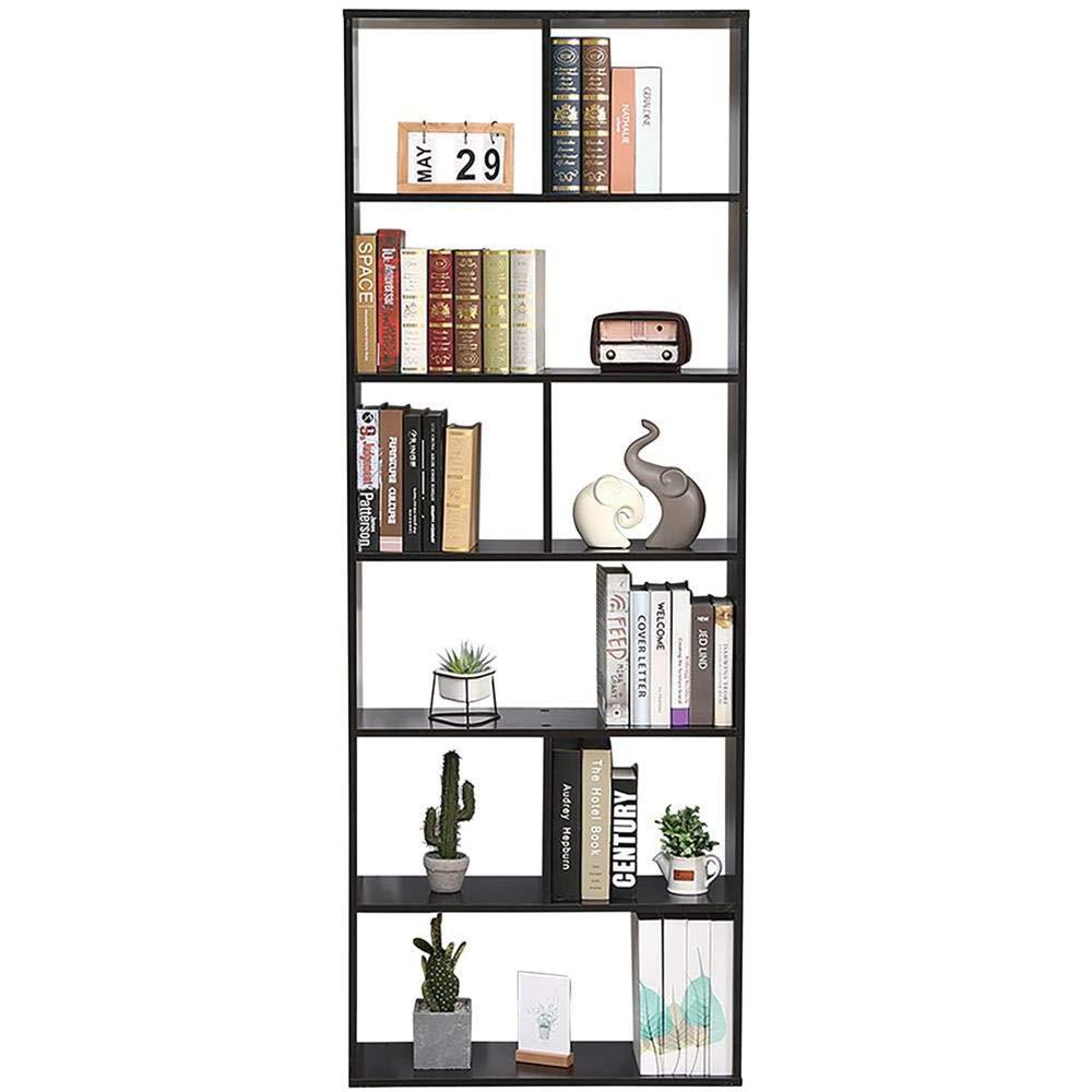 Libreria Giorno 70X23.5X190 Autoportante Mensole Scaffali Muro Design Ingresso Libreria Scaffale Scura Wenge Libreria Cubi Moduli Ufficio Moderna Contemporanea Bifacciale Divisorio