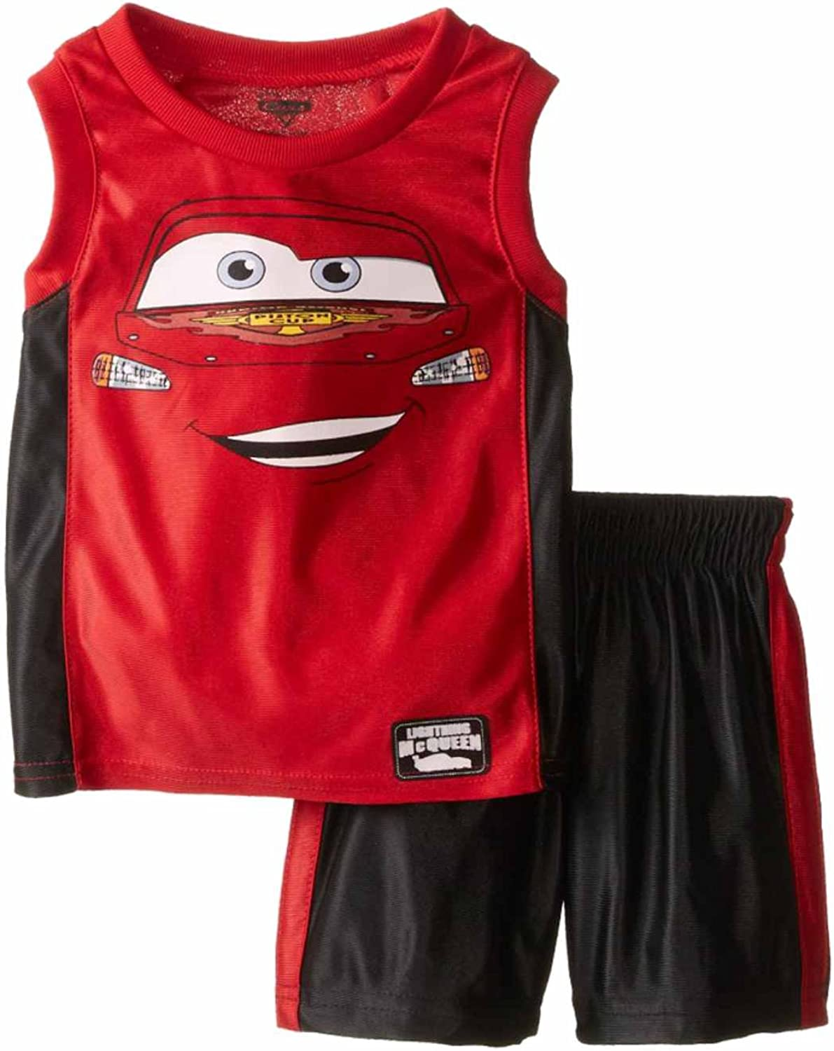 2 PIECE TANK AND SHORTS OUTFIT ADORABLE DISNEY CARS BOYS 3T