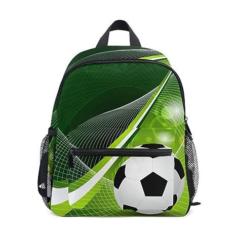 CPYang Mochila Deportiva para niños con diseño de balón de fútbol ...