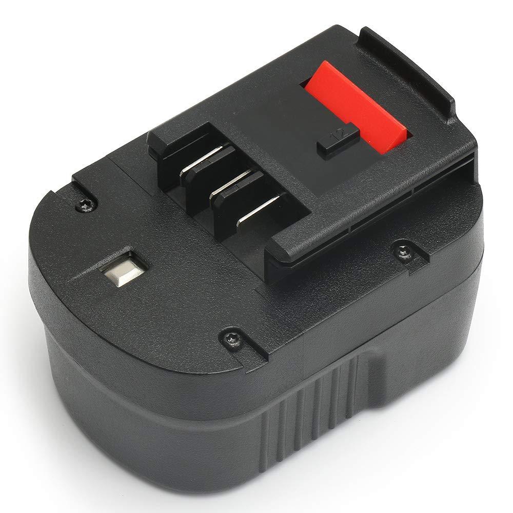 PowerGiant 12V 2.0Ah NiCD Replacement Battery Pack for Black & Decker HPB12 FS120BX FSB12 FS120B A1712 A12 BD12PSK SS12 BDID1202 XD1200K CDC120ASB HPD12K-2