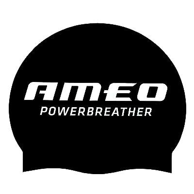 AMEO POWERBREATHER SWIM CAP bonnet de bain Silicone / Noir / Taille unique (One Size)