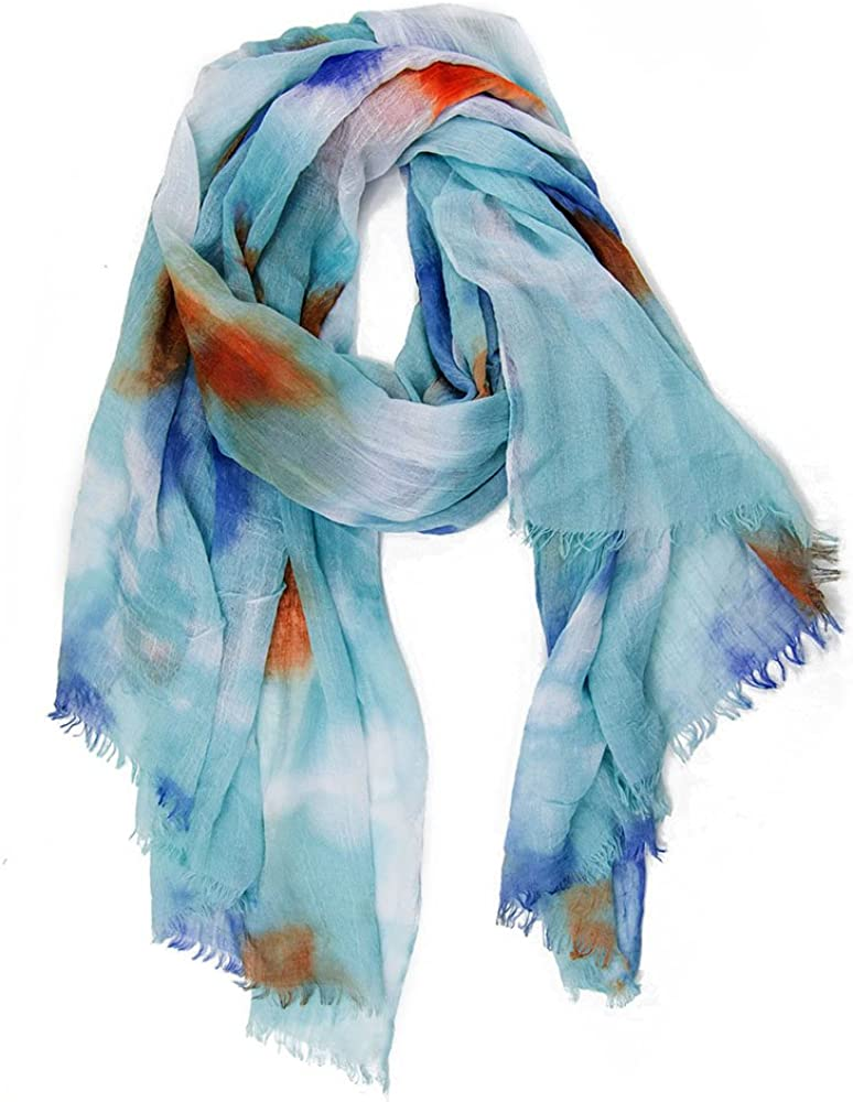 MANUMAR Schal f/ür Damen Stola Geschenkidee Frauen Klassischer Damen-Schal Hals-Tuch in verschiedenen Farben mit Farbverlauf Motiv als perfektes Herbst Winter Accessoire Mode-Schal