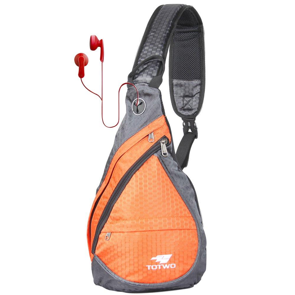 Anti Theft Sling Bag - Small Chest Shoulder Crossbody Backpack for Men & Women Orange