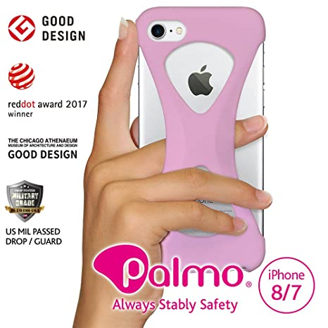 Palmo iPhone 7 Funda Case (Rosa claro) - One finger gripping iPhone case to