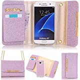 5.1 inch Galaxy S7 Case,TechCode Women Cute Style Candy Color PU Leather Stand Cover with Cards Slots Flip Lady Multi Envelope Package Handbag Clutch Wallet Case for Samsung Galaxy S7 5.1''