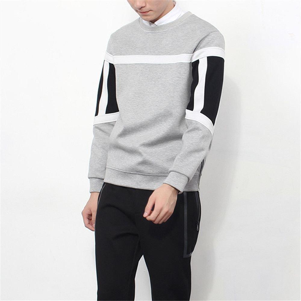 Lisux männer - Pulli heften männer Pullover Mode Kapuzenpullis und Slim,Grau,XXL