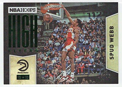 Spud Webb 23/25 (Basketball Card) 2015-16 Panini NBA Hoops High Flyers Holo Green # 3 Mint