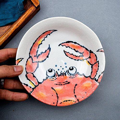 YUWANW Milenio Plato De Porcelana Plato De Lengua Plato Importaciones Japonesas De Casa Creativa Personalidad Cereza Desayuno Vajilla De Cerámica Japonesa, ...
